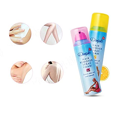 Amazon Com Dimples Hair Remover Spray Foam Body Hair Removal For