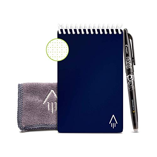 Rocketbook Smart Reusable Notebook - Dotted Grid Mini, Midnight Blue