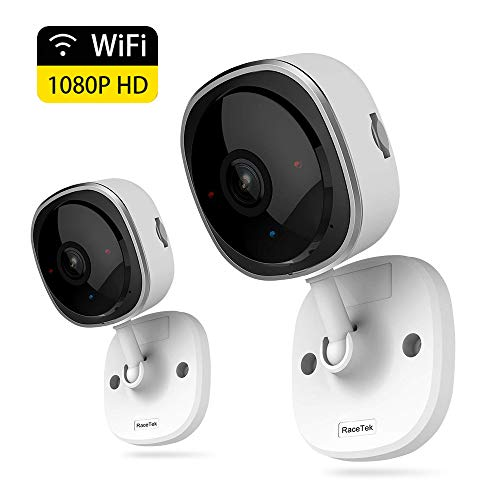 Wireless Security Camera 1080P,180 Degree Panoramic Camera with Motion Detection,Night Vision,Two-Way Audio,Home Security WiFi IP Camera for Office/Baby/Nanny/Pet Monitor (White-2 Pack)