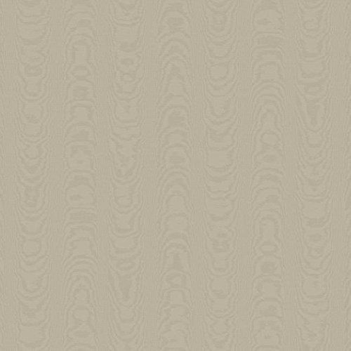 York Wallcoverings WM2557 Williamsburg Palace Moire Wallpaper, Matte Grey On Grey Sheen