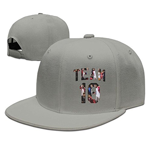 (Evelyn C. Connor Team 10 Team10 Logo Flat Bill Baseball CapHat Ash)