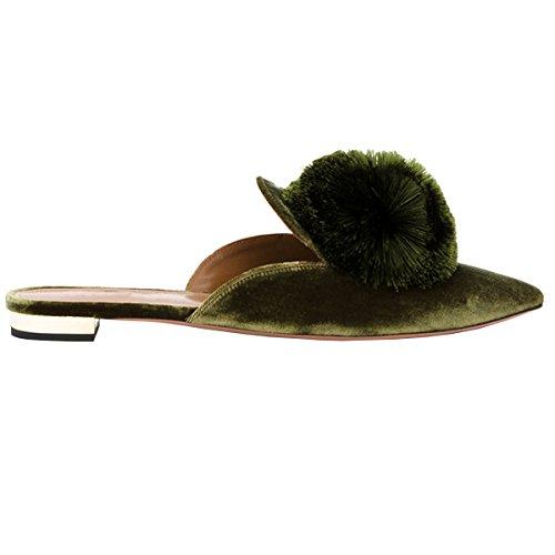 Lovirs Womens Loafers Flats Borduurwerk Muilezel Pantoffels Schoenen Groen