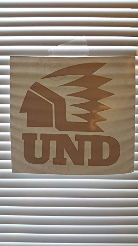 Fighting Sioux Bumper Sticker Window Vinyl Decals 4''x4'' (Old Logo) (green) (Sioux Window Decal compare prices)