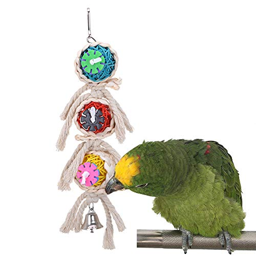 Spiked Pinata - Jiecikou Bird Chewing Toy Large Medium Parrot Cage Bite Toys Spiked Pinata Natural Bird Toy Random Color