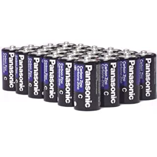 24 Pack Wholesale Lot Panasonic Super Heavy Duty C Batteries
