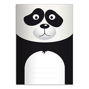 1 Mignon cahier, dessin: petit panda A4 (29,7x21; 32p), cahiers pour écrire, linéatur 27 (cahier ligné; avec bord des deux côtés) cahiers pour écrire linéatur 27 (cahier ligné; avec bord des deux côtés)