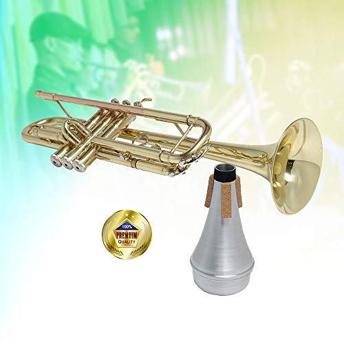 Libretto Trumpet Mute, AC011, Straight Mute, All Aluminum, Excellent For Stage Performance