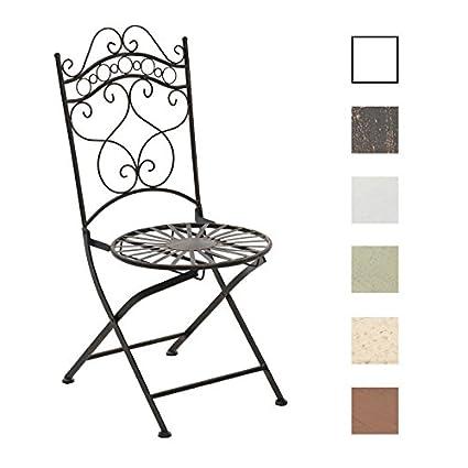 CLP Silla de Jardín Plegable Indra I Silla Plegable en Hierro I Silla de Exterior en Estilo Rústico I Color: Bronce