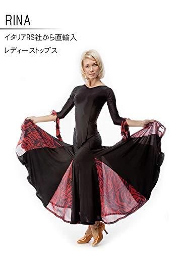(アールエスアトリエ) RS Atelier 「RINA」|トップス| 社交ダンス|レッスンウェア|ダンス|スタンダード|ラテン|女|女性|ストレッチ  Small