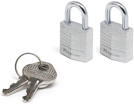 Master Lock Lot de 4 Cadenas 20 mm pour bagage couverture vinyle sac /à dos avec serrure /à cl/é valise