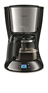 Philips HD7459/20 Daily Filter-Kaffeemaschine, Timer, schwarz/metall