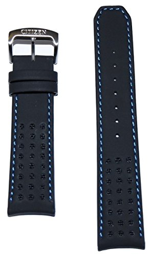 Citizen Men's 22mm Black Leather Band Strap For Eco-Drive Proximity Watch AT7030-05E