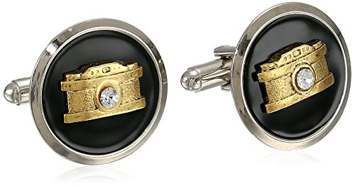 1928 Jewelry Unisex Enameled Camera Cufflinks (Cufflinks Enameled)