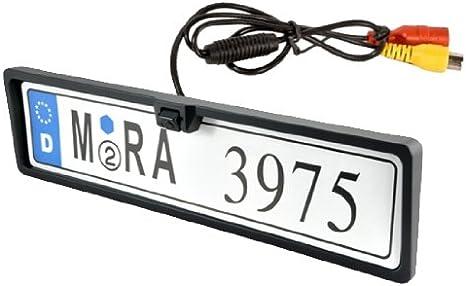 Soporte de placa de matrícula europea con cámara trasera universal ...