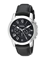Fossil Men's FS4812 Grant Analog Display Quartz Black Watch