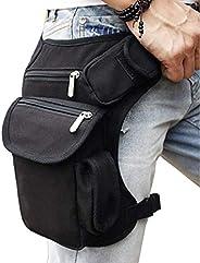 Hebetag Canvas Waist Pack Motorcycle Drop Leg Bag for Men Women Travel Outdoor Tactical Hiking Climbing Cyclin