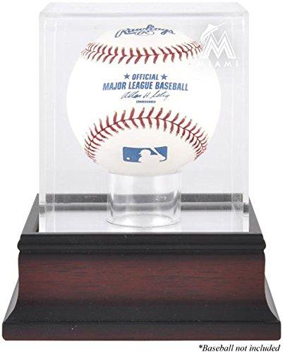 Florida Marlins Display Case (Mounted Memories Florida Marlins Antique Mahogany Baseball Display Case)