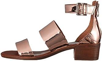 d3676605372 Steve Madden Women's Daly Dress Sandal, Rose Gold, 6.5 M US: Amazon ...