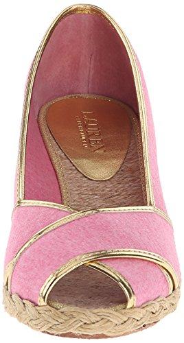 Ii Espadrille Knit Lauren Cecilia Sandal Jersey Wedge Women's Ralph Gold Pink Lauren wqpO76U