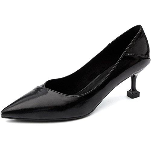 YMFIE Fein mit spitzem Flachem Mundartemperament Reizvoller Ferse Beschuht Damen Einzelne Schuhe Arbeitsschuhe
