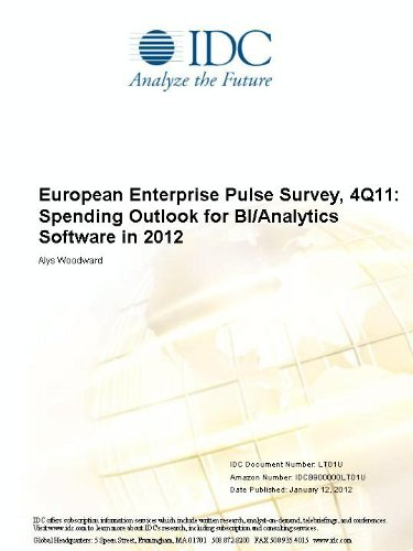 European Enterprise Pulse Survey, 4Q11: Spending Outlook for BI/Analytics Software in 2012 Alys Woodward