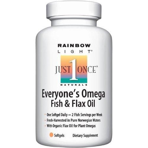 Poisson Oméga Rainbow Light de tout le monde et huile de lin, 60-Count Capsules