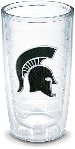 Tervis 1042949 Michigan State Spartan Emblem Individual Tumbler, 16 oz, Clear
