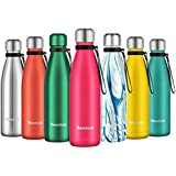 Newdora Insulated Water Bottle 500ml Stainless Steel Water Bottle BPA Free Double-Walled Vacuum Flask for Sports 12…
