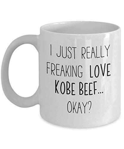 Freaking Love Kobe Beef Coffee Mug Japanese Food Lover Tea Cup Foods Friend Gift Student Present