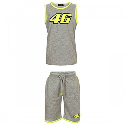 Valentino Rossi VR46 Moto GP Classic Kids Summer Set Grey Official 2018