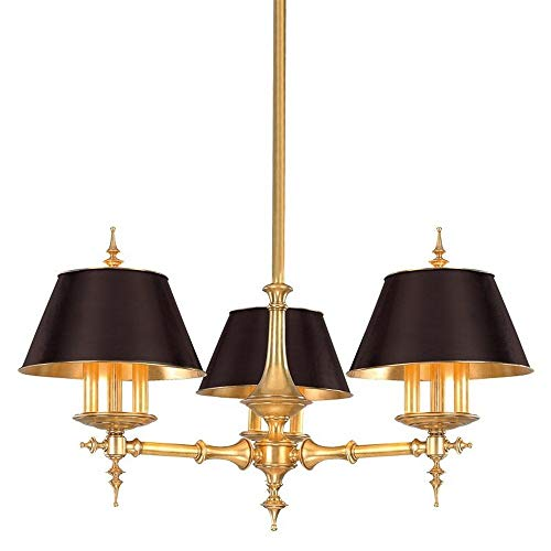 Hudson Valley 9523-AGB, Cheshire Candle 1 Tier Chandelier Lighting, 9 Light, 540 Total Watts, Brass