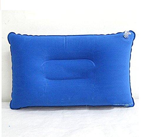 zehaerポータブルの長方形フロック加工インフレータブル枕クッションキャンプピクニック B07C1LTQ6H