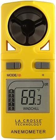 La Crosse Technology EA-3010U Handheld Anemometer (Yellow)