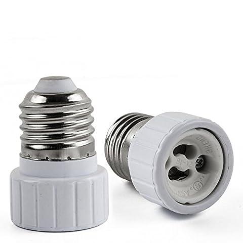 AWE-LIGHT E27 E26 to GU10 LED Bulb Base Adapter Converters Light Sockets Lamp Holder, 6-Pack