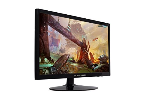 Sceptre 22 Inch LED 1080p Monitor E225W-1920 1920x1080 HDMI DVI VGA True Black, 2017