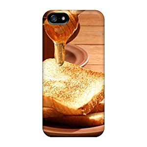 Awesome CDToyZz382AwCBw DaMMeke Defender Tpu Hard Case Cover For Iphone 5/5s- Tea Toast With Honey