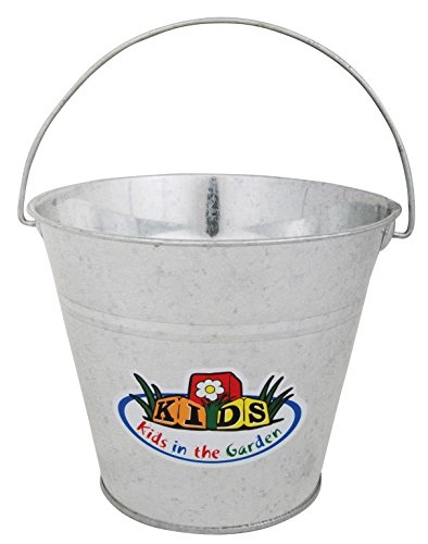 Esschert Design USA KG94 Children's Metal Garden Bucket Silver by Esschert Design USA (Image #1)