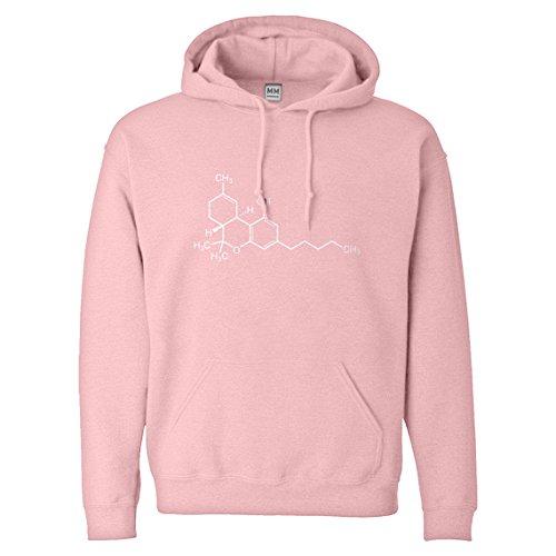Hoodie Thc Molecule Small Pink Hooded Sweatshirt