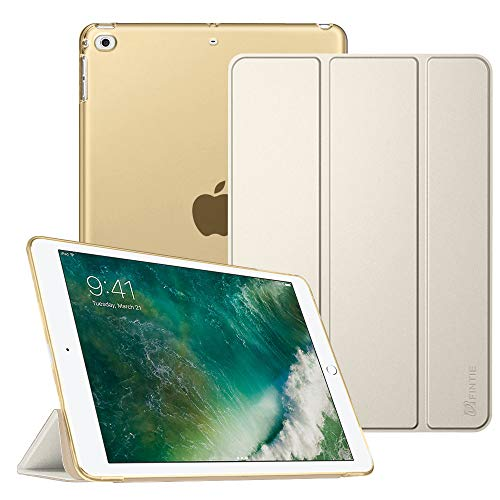 Fintie iPad 9.7 2018/2017, iPad Air 2, iPad Air Case - Lightweight Slim Shell Cover with Translucent Frosted Back Protector, Auto Wake/Sleep for iPad 6th / 5th Gen, iPad Air 1/2, Champagne Gold