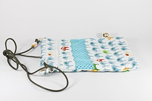 DOCHI QUEEN (Blue,Zippered) Bonding Pouch, Small Pet Carrier for Sugar Glider, Hedgehogs, Hamsters and Other Small Animals. Easy to Clean. Machine Washable. Water Washable. Hand-made. by DOCHI QUEEN (Image #6)