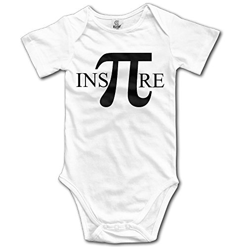 Jaylon Baby Climbing Clothes Romper Math Puns-Inspire Numbers Infant Playsuit Bodysuit Creeper Onesies White]()
