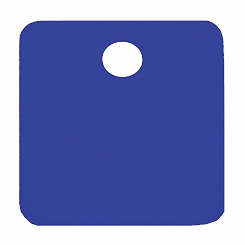 Blue Blank Tag, Aluminum, Square, 1-1/4'' Height, 5 PK