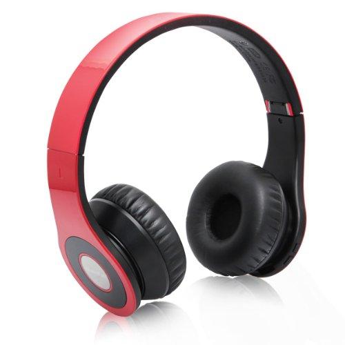 Bluedio Model B – Wireless and Bluetooth Stereo Headphones w/ FM Radio/ SD Card-(Red), Best Gadgets