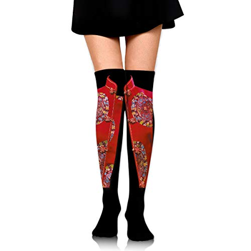 Ancient Chinese Red Vest Women's Clothing Female Ladies Women Girl Teen Kid Youth Leg Tall Mid Thigh High Knee Long Tube Over The Knee Stocking Costume Gifts Clothes Dresses Apparel Thy Thi Hi Attire ()