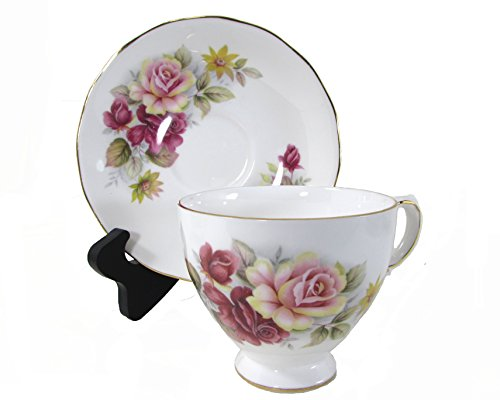 Queen China Bone Anne - Queen Anne Bone China Rose Cup and Saucer