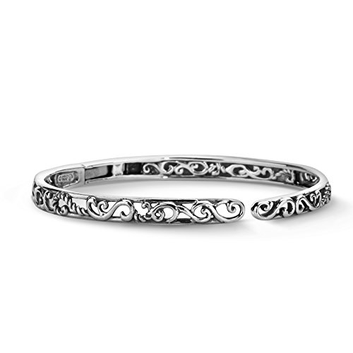 Carolyn Pollack Sterling Silver Signature Hinged Cuff (Sterling Silver Hinge Bracelet)