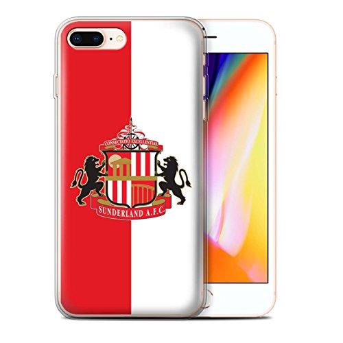 Officiel Sunderland AFC Coque / Etui Gel TPU pour Apple iPhone 8 Plus / Rouge/Blanc Design / SAFC Crête Club Football Collection