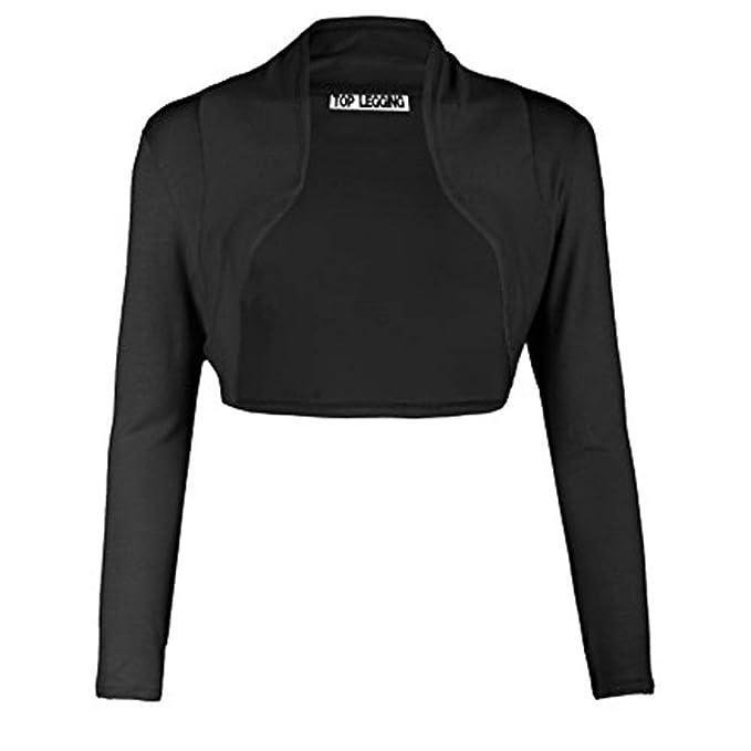 Mujer Bolero Colores Lisos Corto Chaqueta Ropa de Abrigo Rebecas Coat Jacket Cárdigans Moda Manga Larga Torera Tops Outwear: Amazon.es: Ropa y accesorios
