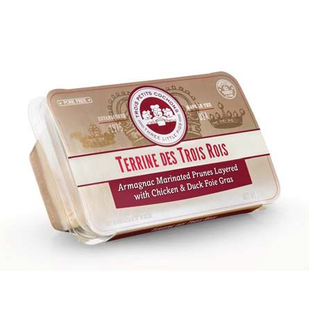 Chicken & Duck Foie Gras w/ Armagnac Marinated Prunes Terrine - 7 oz (Pack of 6) by Les Trois Petite Cochons