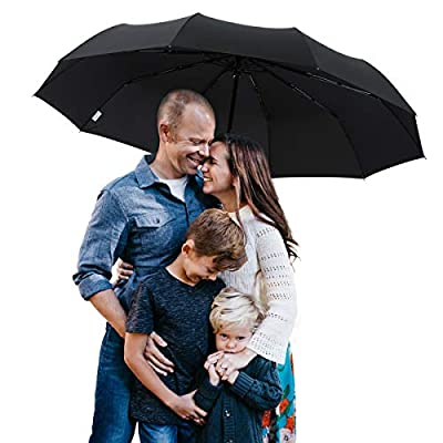 BOY TF Golf Umbrella, Extra Large Canopy 10 Reinforced Ribs, Automatic Windproof Vented Fast Drying Travel Umbrella